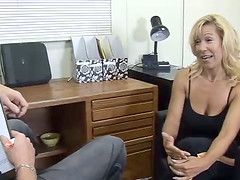 Mature lady Rachel in bra and thong gets licked and screwed doggystyle